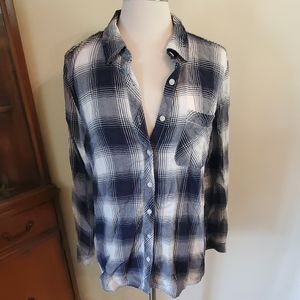 Sonoma the everyday shirt navy button down large